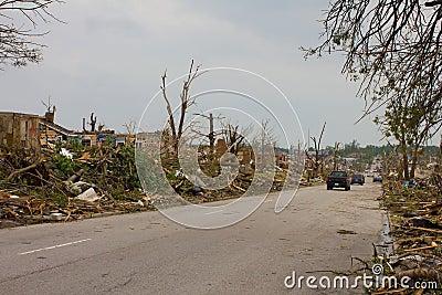 Tornado Damaged Street Joplin Mo