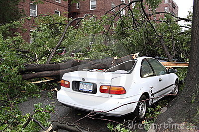 Tornado Hits New York City on  SEPTEMBER 16, 2010 Editorial Stock Image