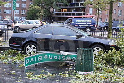 Tornado Hits New York City on  SEPTEMBER 16, 2010 Editorial Image