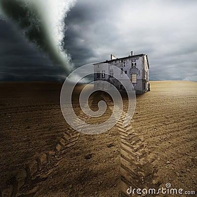 Free Tornado In Field Royalty Free Stock Photos - 18898108