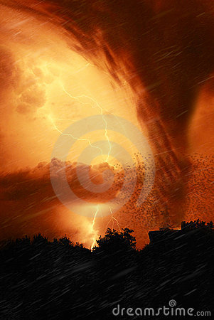 Free Tornado In The Night Stock Image - 15170301