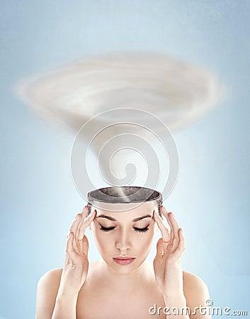 Free Tornado In Woman S Head Stock Image - 17343761