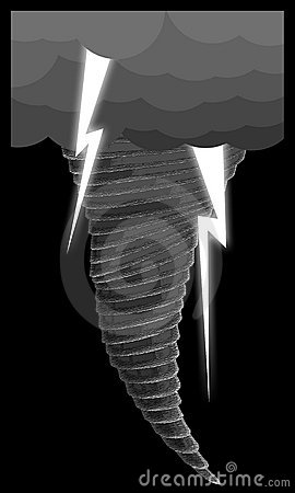 Tornado with llightning