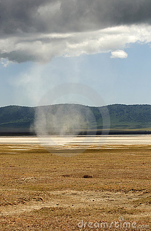 Tornado in Ngorongoro Conservation Area