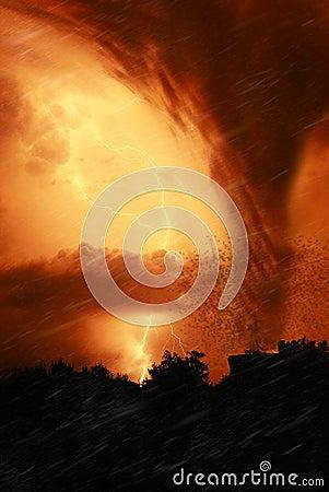 Tornado in the night