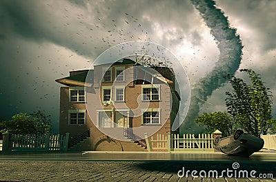 Tornado over the house