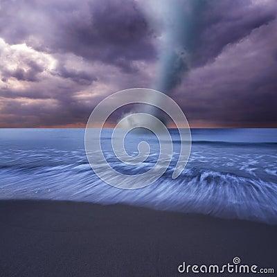 Tornado at sea