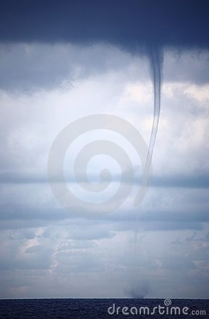 Tornado and storm clouds