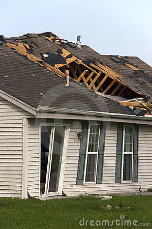 Free Tornado Storm Damage House Home Destroyed By Wind Stock Images - 14896064