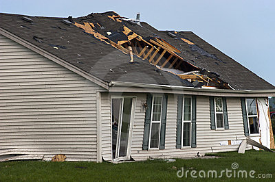 Tornado Storm Damage House Home Destroyed By Wind Royalty Free Stock Photo - Image: 14895715