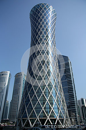 Tornado Tower in Doha, Qatar Editorial Photography
