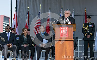 Toronto Bicentennial Commemoration of the Battle of York Editorial Stock Photo