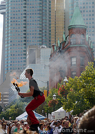 Toronto Buskerfest, August 2011 Editorial Stock Photo