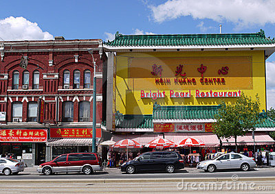 Toronto Chinatown Editorial Stock Image