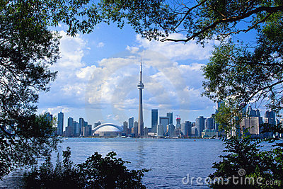 Toronto City with Frame