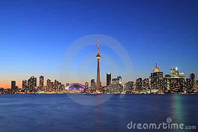 Toronto Cityscape from Central Island Editorial Stock Image