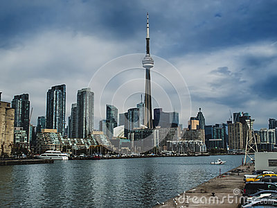 Toronto on a cloudy day Editorial Stock Photo