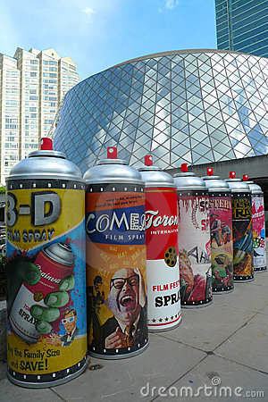 Toronto Film Festival and art installation Editorial Image