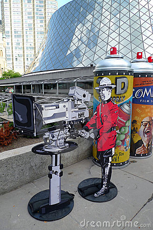 Toronto Film Festival and art installation Editorial Stock Image