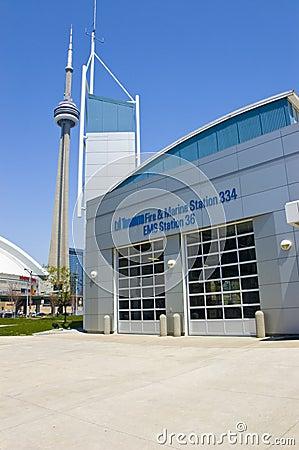 Toronto Fire & Marine Station Editorial Stock Photo