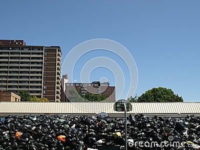 Toronto Garbage Strike at Moss Park Editorial Stock Photo