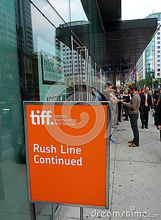 Toronto International Film Festival Rush Line Editorial Photo