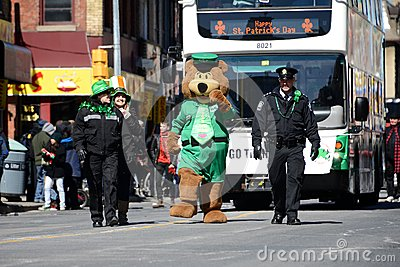Toronto s annual St. Patrick's Day parade Editorial Photo