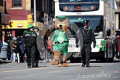 Toronto s annual St. Patrick's Day parade Editorial Photo