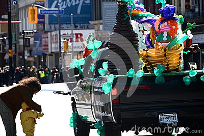 Toronto s annual St. Patrick's Day parade Editorial Stock Image
