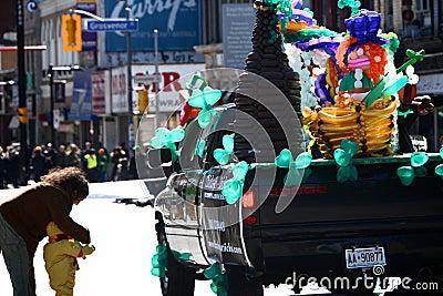 Toronto s annual St. Patrick's Day parade Editorial Stock Image