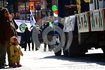 Toronto s annual St. Patrick's Day parade Editorial Stock Photo