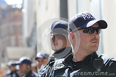Toronto police officers. Editorial Image