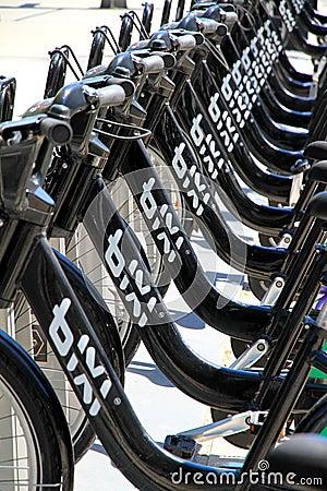 Toronto Public Bikes Editorial Stock Image