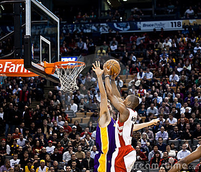 Toronto Rapters vs. Los Angeles Lakers Editorial Photo