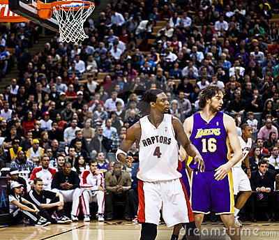 Toronto Rapters vs. Los Angeles Lakers Editorial Stock Photo