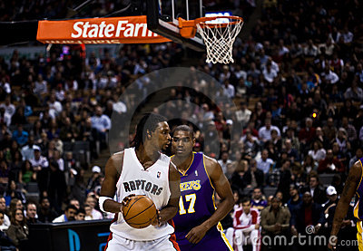Toronto Rapters vs. Los Angeles Lakers Editorial Image
