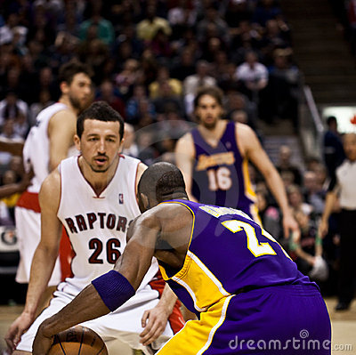Toronto Rapters vs. Los Angeles Lakers Editorial Photography