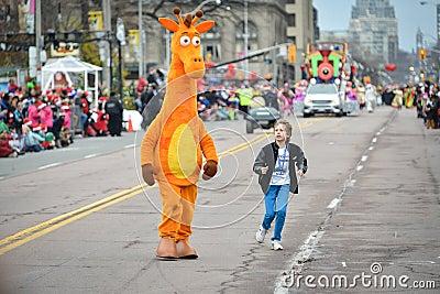 2013 Toronto Santa Claus Parade Editorial Stock Image