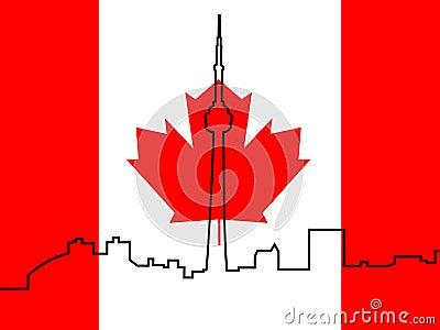 work Canadian+flag+outline