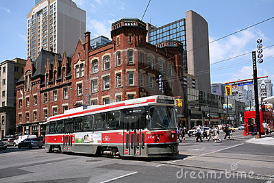 Toronto Streetcar, Yonge Street Editorial Stock Photo
