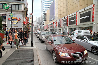 Toronto Traffic Editorial Stock Photo