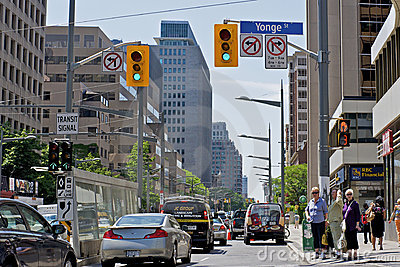 Toronto Traffic Congestion Editorial Image