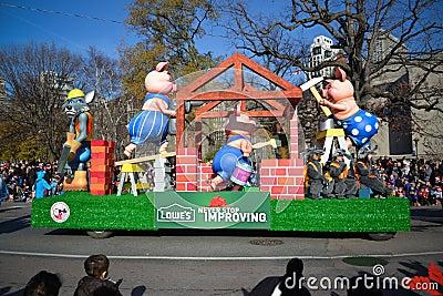 Torontos 108. Weihnachtsmann-Parade Redaktionelles Stockfoto