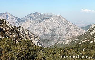 Toros Mountain from Termessos, Antalya.
