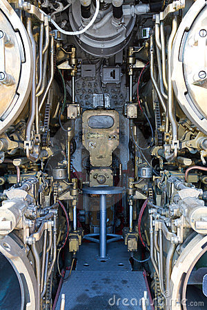 Torpedo room section of TCG Canakkale (S-341) subm Editorial Photo