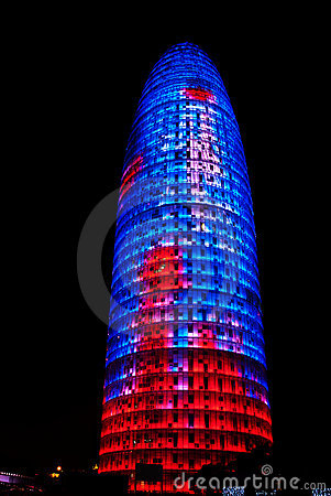 Torre Agbar, Barcelona Editorial Stock Image