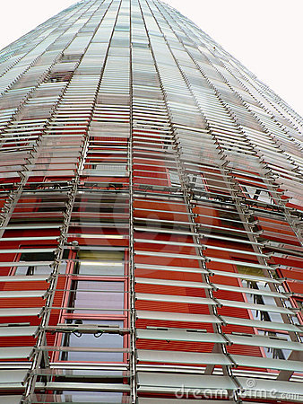 Torre Agbar, Barcelona, Spain Editorial Image