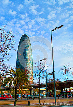 Torre Agbar Editorial Stock Photo
