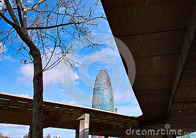 Torre Agbar Editorial Image