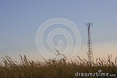 Torre celular das telecomunicações